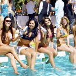 Miss Malibu Contestants Showing Off H20 Sponsor Water
